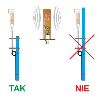 Montaż anteny mini whip