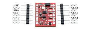 Moduł generatora częstotliwości z Si5351A 1